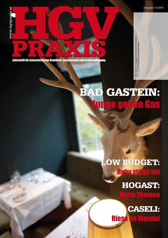 HGV Praxis - Zeitschrift für Gastronomie, Hotellerie Ausgabe 11 2014